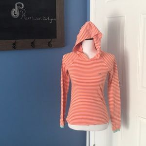 Lacoste striped hooded thermal 36